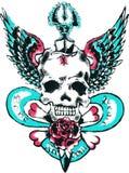 Skull wing rock tattoo Royalty Free Stock Photography