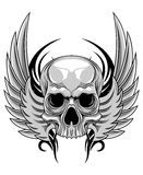Skull with wing Royalty Free Stock Photos