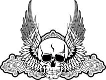Skull with wings. Vector image skull with wings Stock Photo