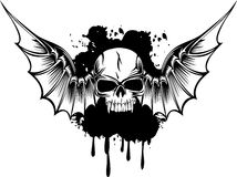 Skull with wings. Vector image skull with wings Royalty Free Stock Photos