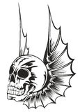 Skull with wings Royalty Free Stock Image