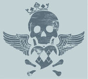 Skull with wings Royalty Free Stock Photography