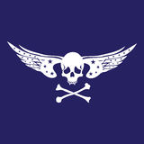 Skull with wings stock illustration