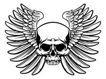 skull wings 免版税库存照片