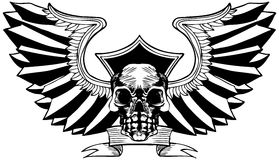 Skull with Wings Stock Photo