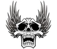 Skull and wings Stock Photography