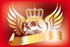 Skull and wings design Royalty Free Stock Photography