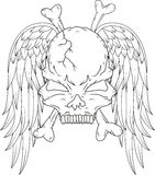 Skull with wings Royalty Free Stock Images