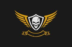 Skull and wings logo. Design Royalty Free Stock Image