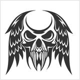 Skull with Wings Vector Illustration Stock Image