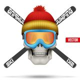 Ski club or team badges and labels Stock Photos