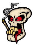 Skull wit joint. Illustration Royalty Free Stock Photos