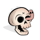 Skull and worm Royalty Free Stock Images