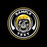 Skull With Yellow Helmet vector illustration
