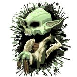 Skull Yoda Jedi Master. Yoda, Jedi Master's Skull. Yoda was one of the oldest Jedi Masters, having lived approximately 900 years before his death. Over the Royalty Free Stock Image