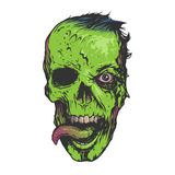 Skull zombie illustration Stock Images