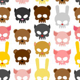Skulls animal seamless pattern. Background for Halloween. Snout Royalty Free Stock Photography