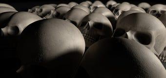 Skulls Array Perspective Dark Stock Photos