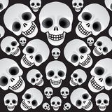 Skulls on a black background Royalty Free Stock Photos
