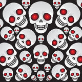 Skulls on a black background Stock Image