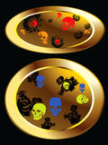 Skulls and black roses Royalty Free Stock Image