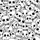 Skulls black and white seamless pattern. Design Royalty Free Stock Photography