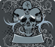 Skulls_blue Fotos de Stock Royalty Free