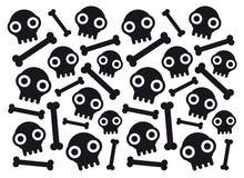 Skulls and bones stock images