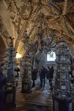Skulls and bones , interior Sedlec ossuary. Kutna Hora, Czech Republic Stock Photo