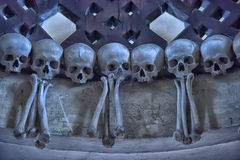 Skulls and bones , interior Sedlec ossuary. Kutna Hora, Czech Republic Stock Photography