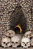 Skulls and Bones in Kutna Hora Royalty Free Stock Photography