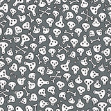 Skulls and bones seamless pattern. Royalty Free Stock Images
