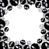 Skulls border made in contemporary geometric style, vector backg Stock Image