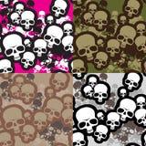 Skulls camo Stock Photography