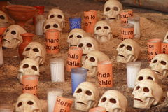 Skulls and candles Stock Photo