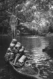 Skulls at the canoe Stock Image
