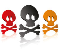 Skulls and cross bones Stock Image