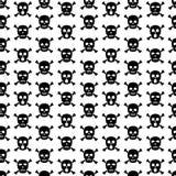 Skulls and crossbones seamless pattern. Vector background vector illustration
