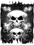 Skulls and crossbones Royalty Free Stock Photos
