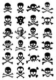 Skulls & Crossbones Vector Collection in White Bac Royalty Free Stock Photos