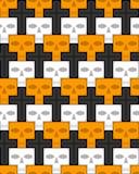 Skulls and crosses. Infinite background Stock Image