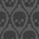 Skulls damask pattern Royalty Free Stock Images