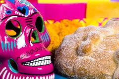 Skulls Day of the dead celebration Stock Photo