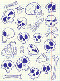 Skulls doodles Royalty Free Stock Photo