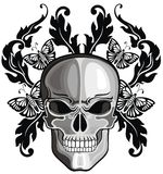 Skulls with floral patterns Stock Photo