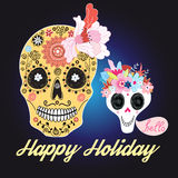Skulls with flowers Royalty Free Stock Photo