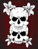 Skulls And Flowers Stock Photography
