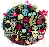 Skulls and flowers. Royalty Free Stock Photography