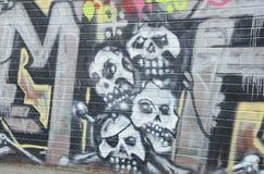 Skulls in graffiti art Stock Photography