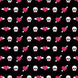 Skulls and hearts Stock Images